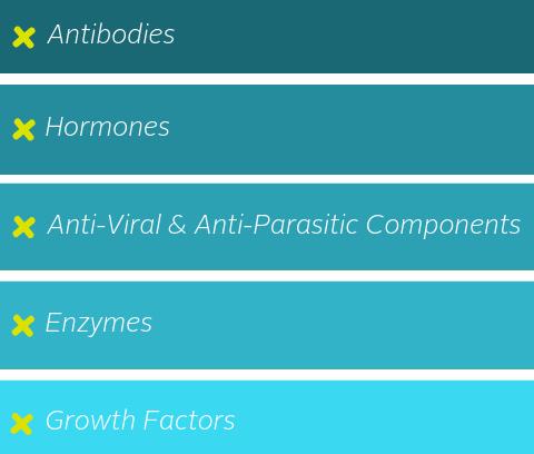 Graphic describing the critical components that formula lacks