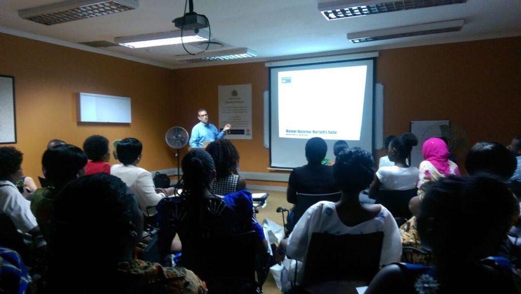 Joseph Sclafani presenting in Malawi