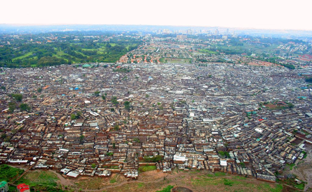 An image of Kibera Slums in Nairobi.