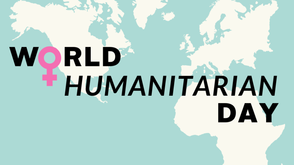 Banner for World Humanitarian Day.