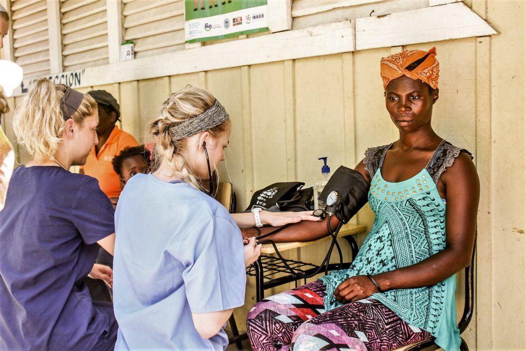 Haitian migrant receiving care