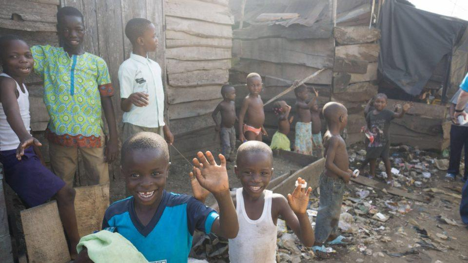 children in village in nigeria