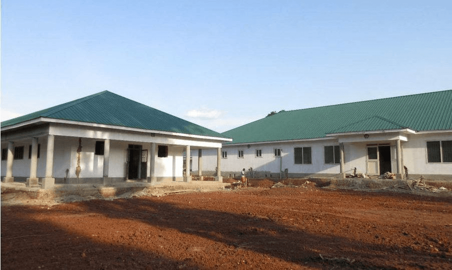 New hospital buildings at St. Therese Hospital in Nzara, South Sudan