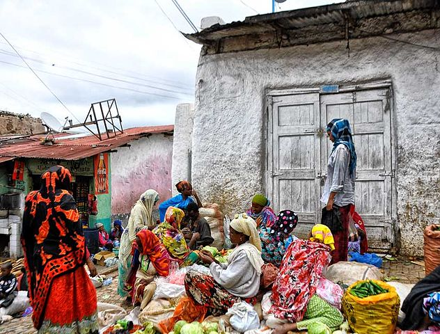 ethiopian street market
