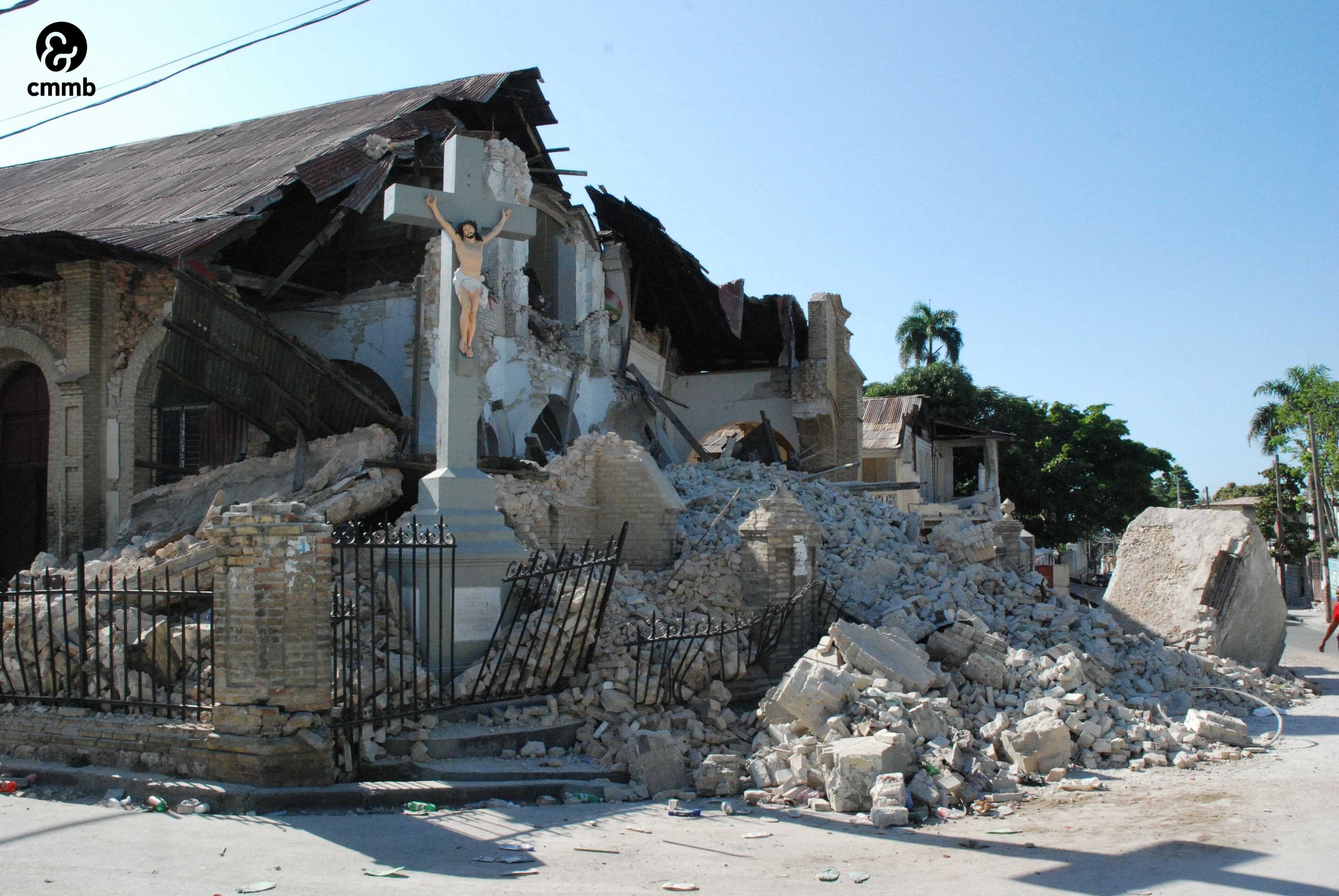 church standing after earthquake