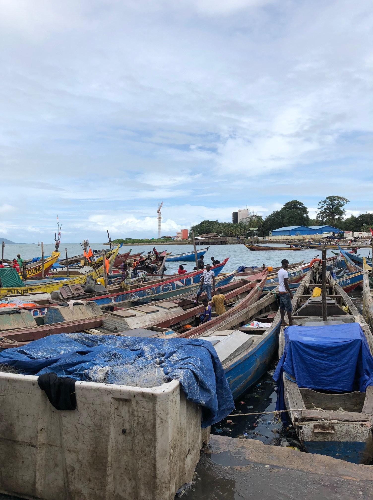 guinea seascape with boats