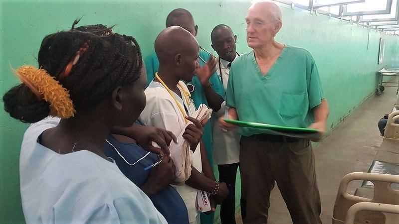cmmb volunteer dr jim peck in sudan