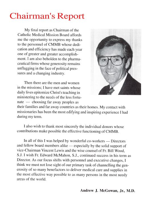 chairman Andrew McGowan's letter- 1994 annual report