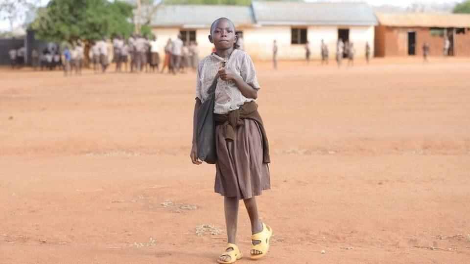 young girl in zambia