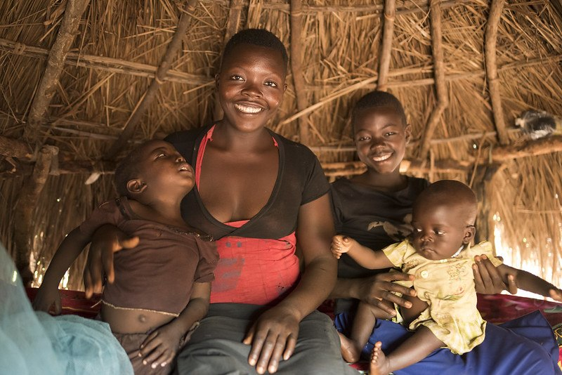 south sudan mother and children