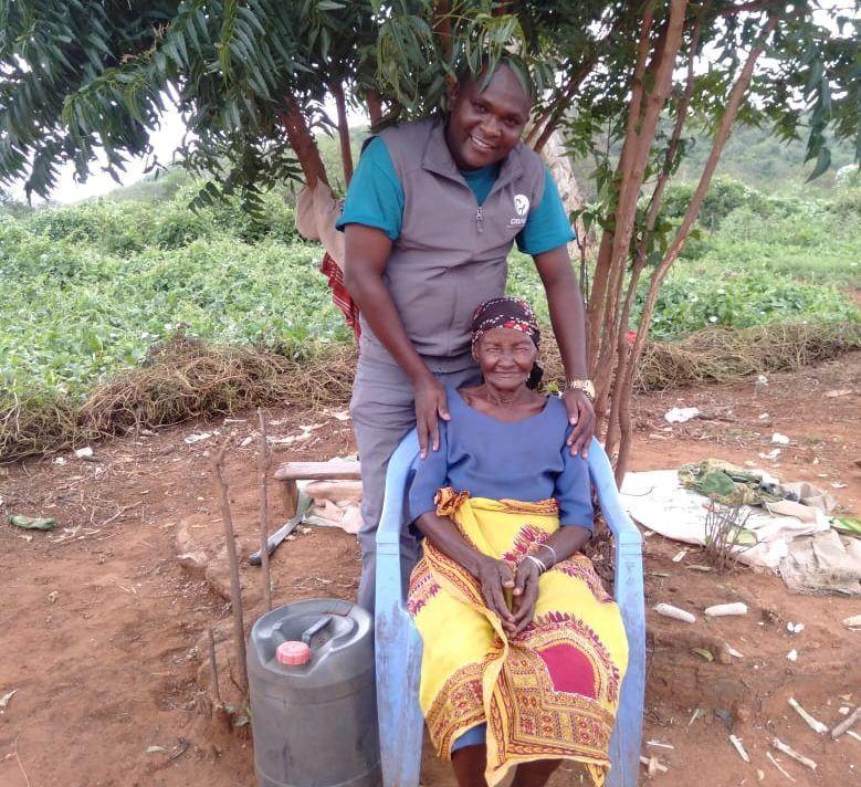 Joseph with Grandma Grace in Kenya