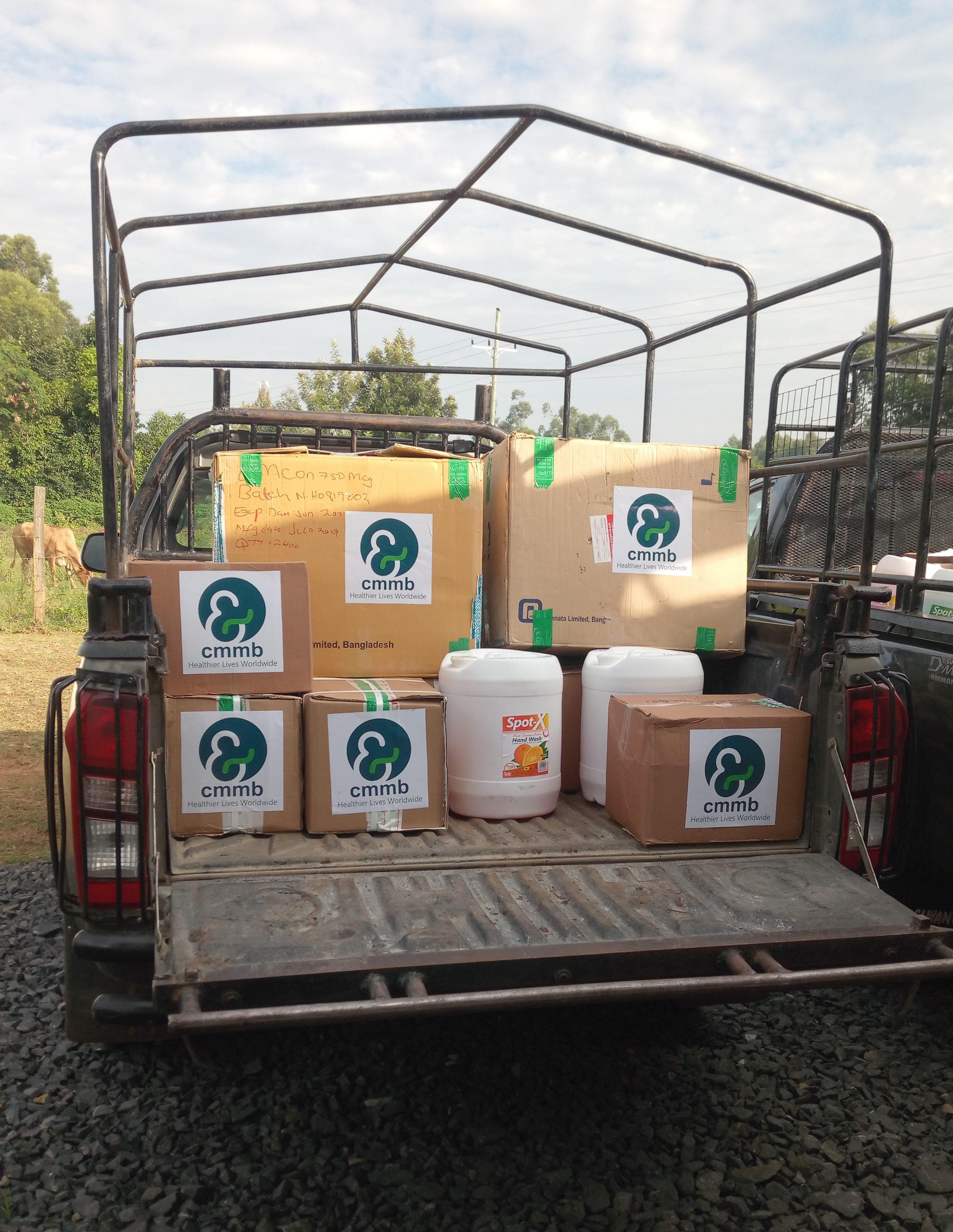shipment of PPE arrives in Kenya