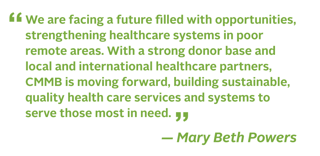 A quote from Mary Beth Powers