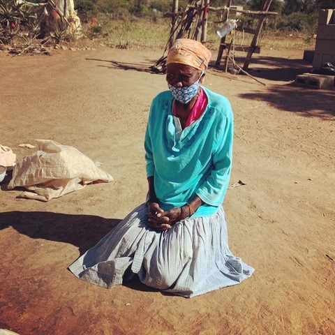 Woman wears a mask in Swaziland to prevent COVID-19