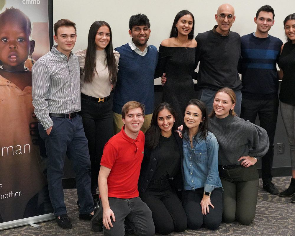 Hunter College Student Group Leaders with Dr. Tom in November 2019.
