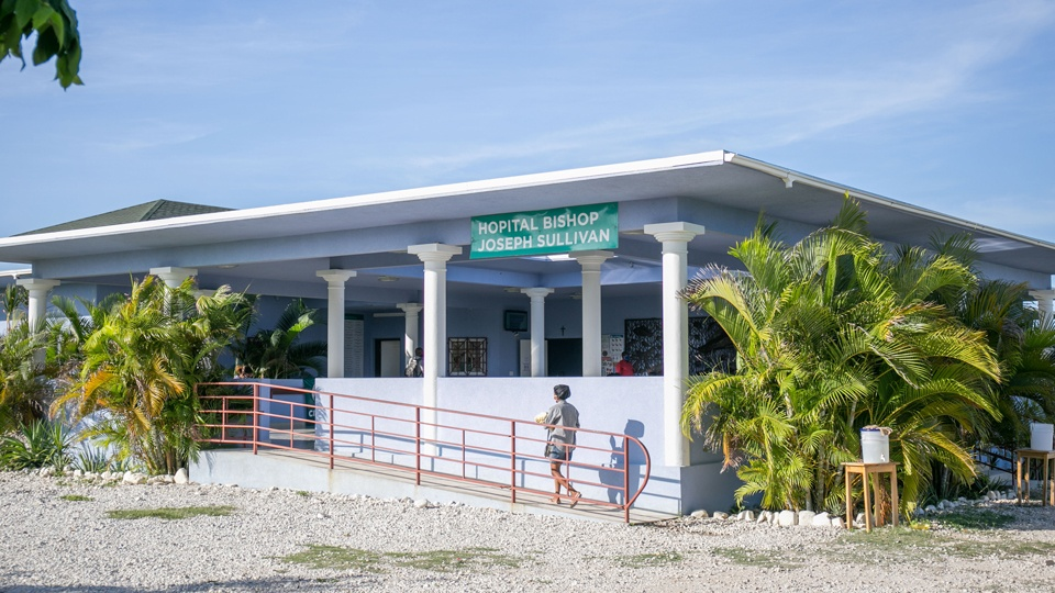 Bishop Jospeh Sullivan Center for Health hospital in southeast Haiti in July 2020.