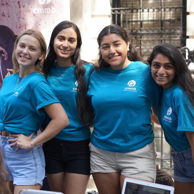 CMMB x hunter students at Hunter College Club fair in September of 2019