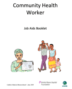 Community health worker job aids booklet created by summer 2020 intern Chloe Rivera
