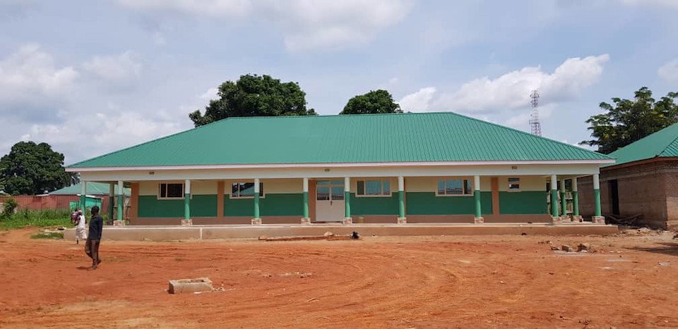 A completed building at the site of St. Therese's expansion in South Sudan