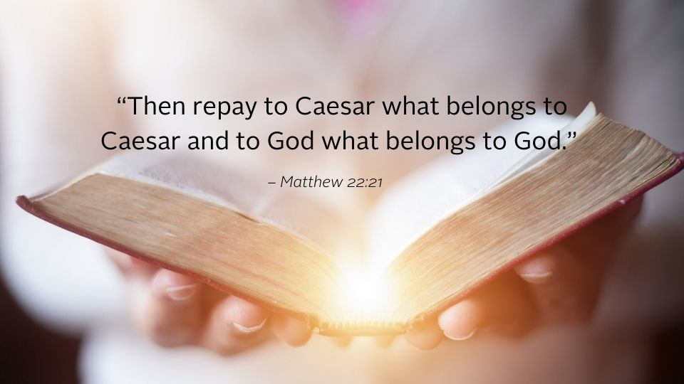 image with bible text from weekly reflection matthew 22