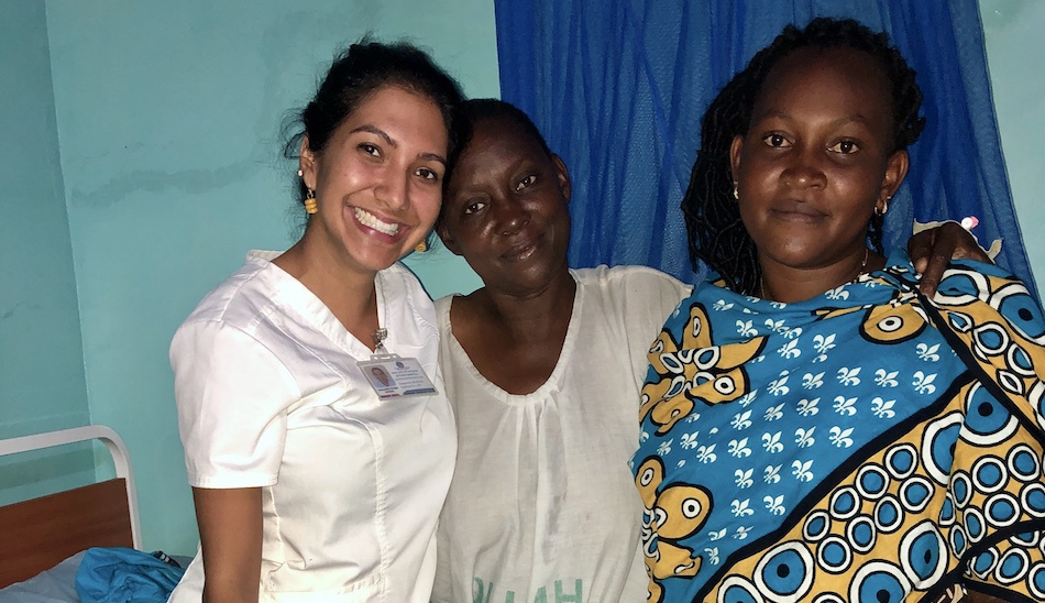 Samantha at the mutomo mission hospital in Kenya in 2019