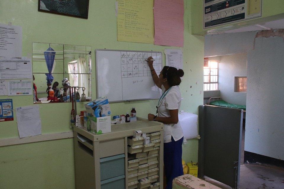 Samantha in Pediatric Ward