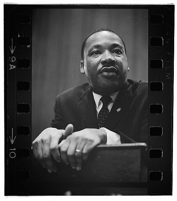 Rev. Dr. Martin Luther King Jr. at press conference in 1964.