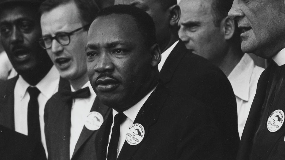 Rev. Dr. Martin Luther King Jr. at Civil Rights March on Washington.