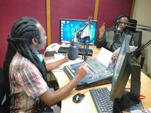 A radio broadcast about COVID-19 messaging from CMMB Kenya team in 2021.