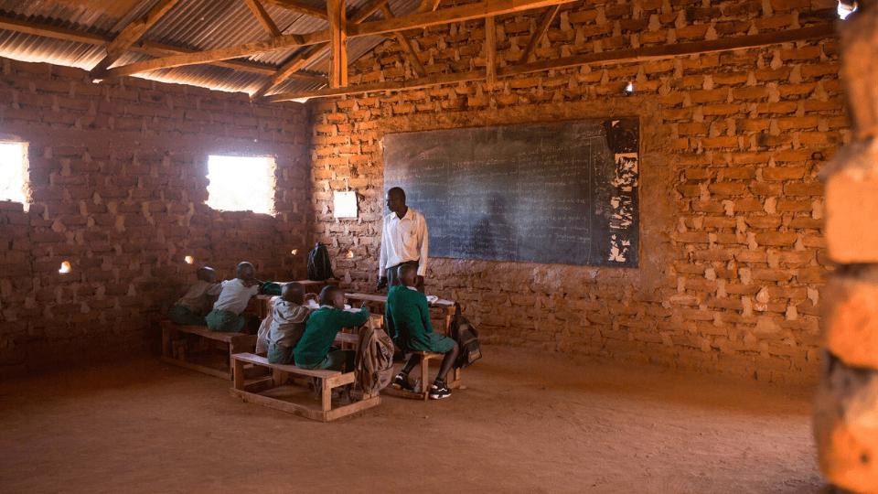 a small classroom in Mutomo Kenya