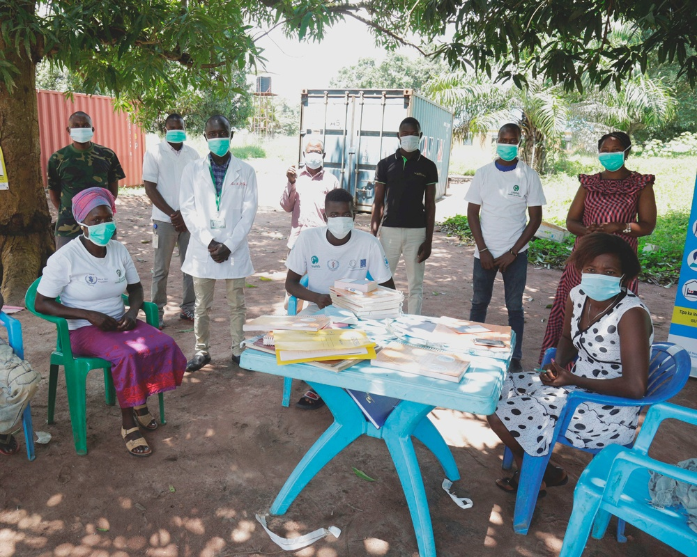 A group of community health workers responding to COVID-19 in South Sudan.
