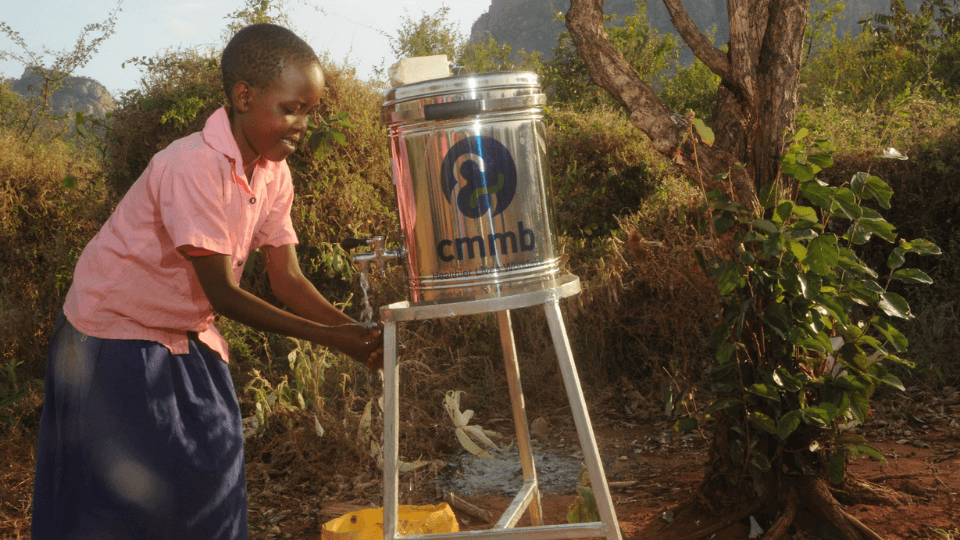 water sanitation point in Kenya