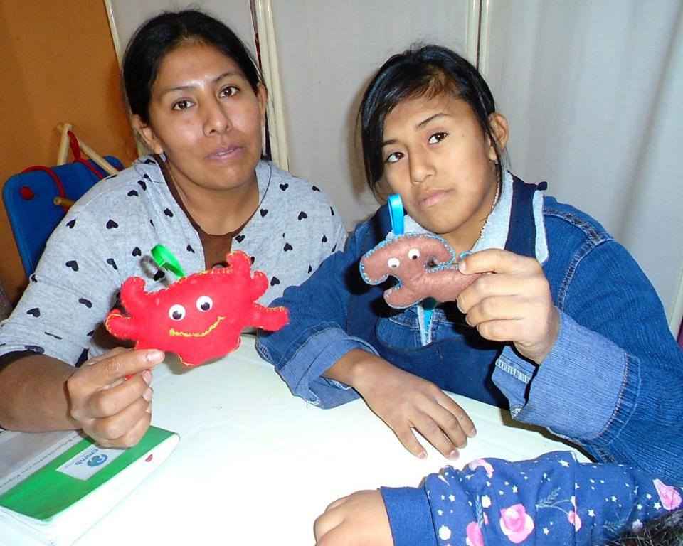 Mother Andrea and her special needs daughter Leslie in Trujilo, Peru in April 2021.