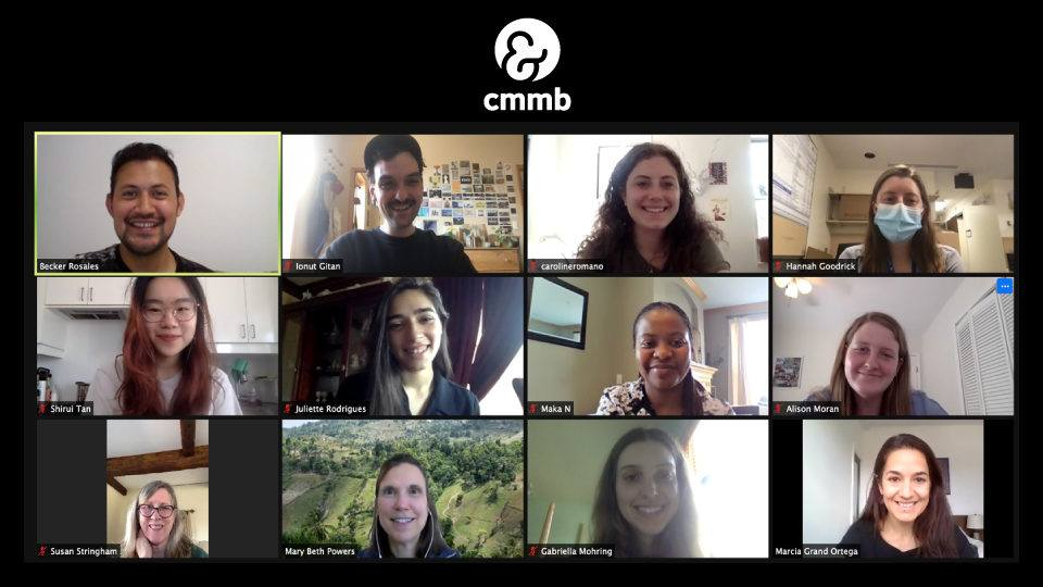CMMB's spring 2021 interns and volunteers had the opportunity to meet up virtually with Mary Beth Powers.