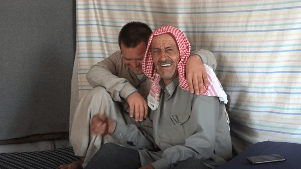 kamel and his son at home in syria