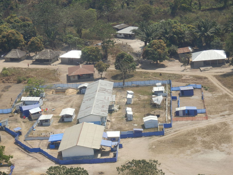 Ebola patient holding center in Sierra Leone