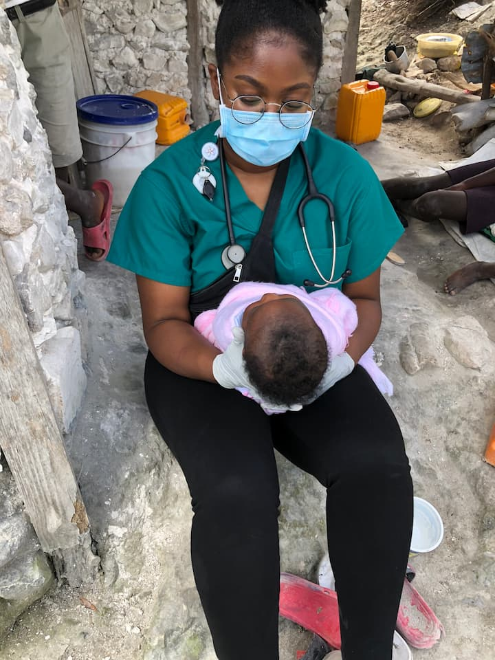 stephanie cares for infant at home