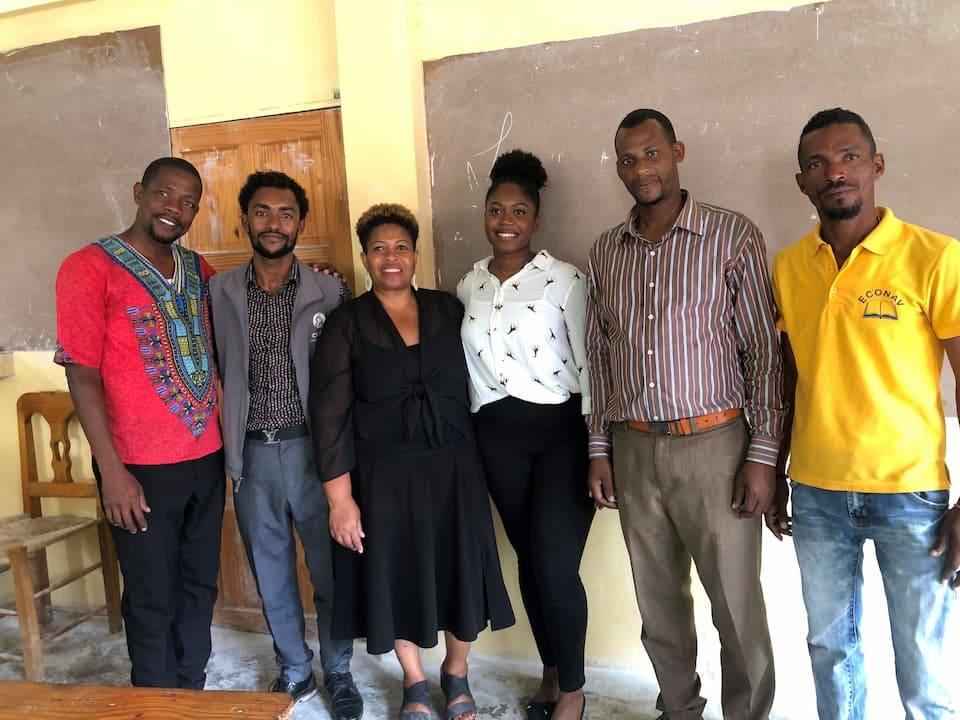 team of health workers in haiit