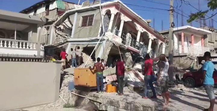 A building destroyed in Haiti by the 7.2 magnitude earthquake in August 2021.
