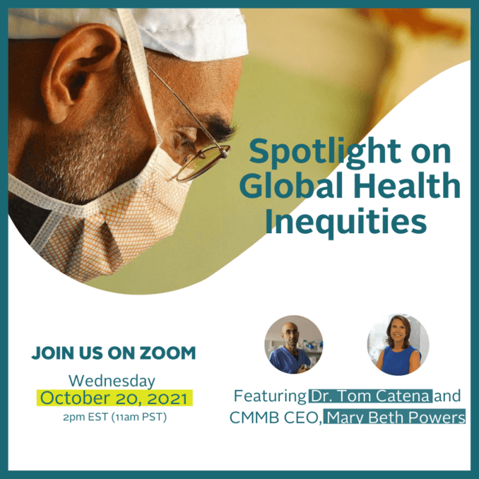 Spotlight on Global Health Inequities Event Graphic