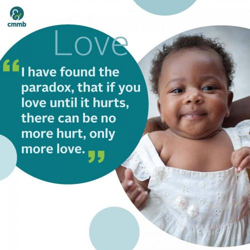 Mother Teresa quote_Love_I found the paradox, that if you love