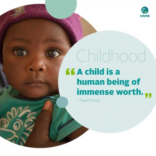 Pope Francis quote_Childhood_A child is a human being of immense worth