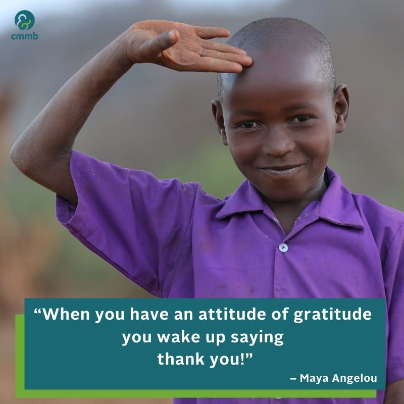 When you have an attitude of gratitude you wake up saying thank you