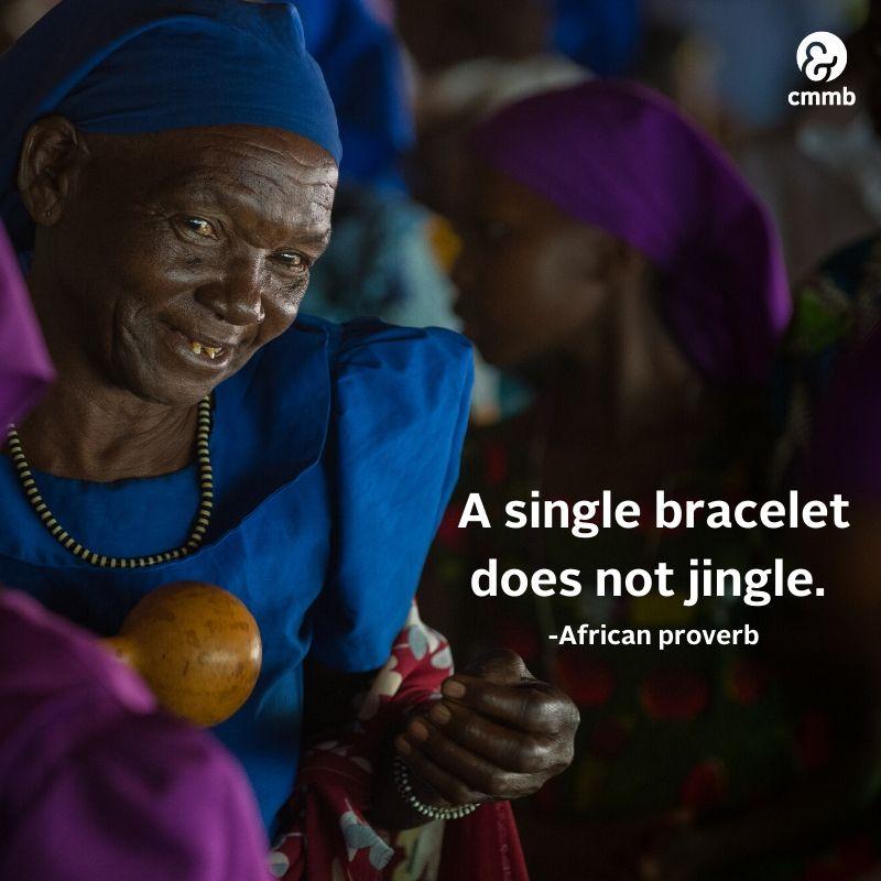 A single bracelet does not jingle.