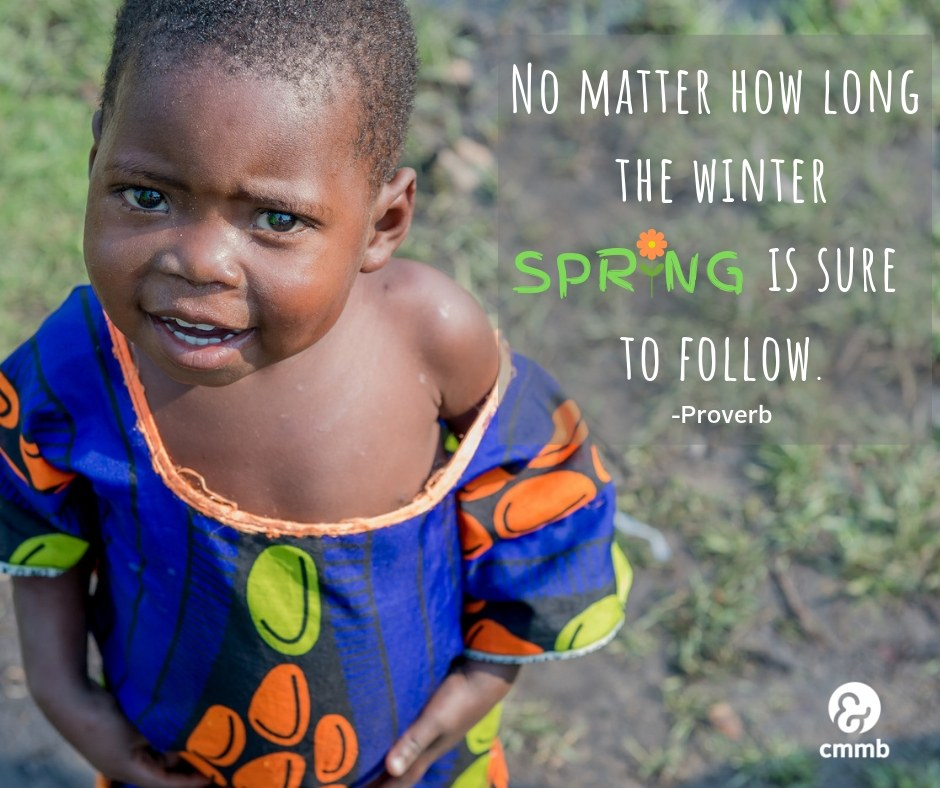 Sunday Inspiration - March 24 - Little girl wearing colorful dress from Zambia