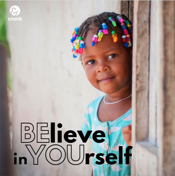 Girl from Haiti. Quote: Believe in yourself. Be you.