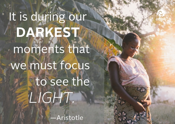It is during our darkest moments we must focus to see the light. - Aristotle