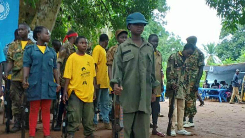 Former child soldiers at the release in Yambio, South Sudan