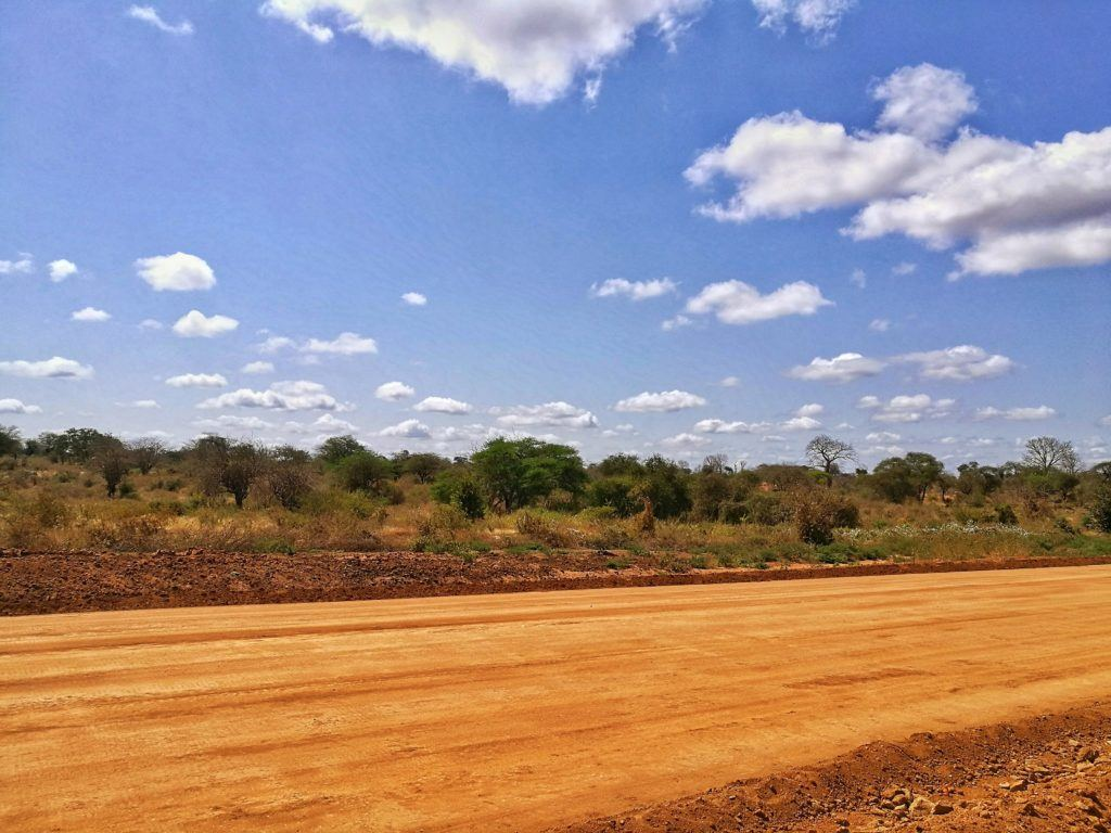 Sandy Road in Mutomo, Kenya